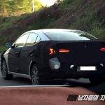 Facelifted Hyundai Elantra (Hyundai Avante) rear three quarter spy shot