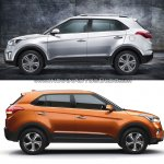 Hyundai Creta old vs new side
