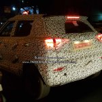 Mahindra S201 (SsangYong Tivoli based SUV) spy shot tail lamp