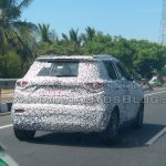 Mahindra S201 spy shot right rear angle