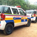 Mahindra TUV300 Mumbai Police fleet rear angle