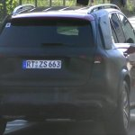 Next-gen Mercedes GLE rear three quarters spy shot