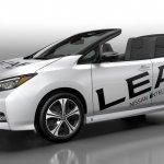 Nissan Leaf Open Car front three quarters