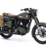 Royal Enfield Classic 500 Pegasus Limited Edition Olive Drab Green Front three quarters