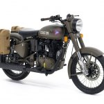 Royal Enfield Classic 500 Pegasus Limited Edition Service Brown Front three quarters