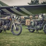 Royal Enfield Classic 500 Pegasus Limited Edition Service Brown & Olive Drab Green
