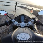 TVS Apache RR 310 Black detailed review cockpit