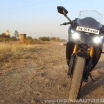 TVS Apache RR 310 Black detailed review front