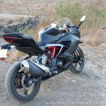TVS Apache RR 310 Black detailed review rear right quarter