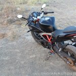 TVS Apache RR 310 Black detailed review rear top angle