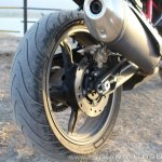 TVS Apache RR 310 Black detailed review rear wheel