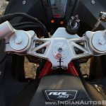 TVS Apache RR 310 Black detailed review steering head