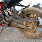TVS Apache RR 310 Black detailed review swingarm