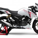 TVS Apache RTR 180 Race Edition press right side