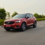 Volvo XC40 review front angle action shot tilt