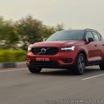 Volvo XC40 review front three quarters action shot