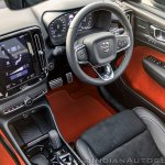 Volvo XC40 review interior black and Lava red