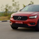 Volvo XC40 review nose action shot