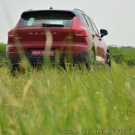 Volvo XC40 review rear angle grass