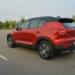 Volvo XC40 review rear three quarters action shot