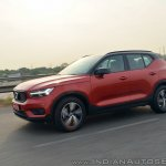 Volvo XC40 review side angle action shot tilt