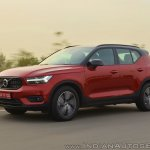 Volvo XC40 review side angle action shot