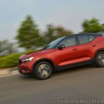 Volvo XC40 review side angle motion shot