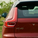 Volvo XC40 review tail light