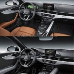 2016 Audi A4 vs 2019 Audi A4 old vs new dashboard