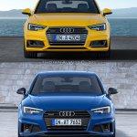 2016 Audi A4 vs 2019 Audi A4 old vs new front