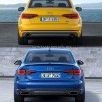 2016 Audi A4 vs 2019 Audi A4 old vs new rear