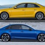 2016 Audi A4 vs 2019 Audi A4 old vs new side