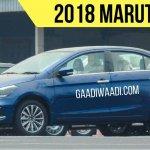 2018 Maruti Ciaz (facelift) blue front three quarters left side spy shot