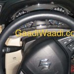 2018 Maruti Ciaz (facelift) steering wheel and instrument panel spy shot