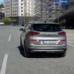 2019 Hyundai Tucson (facelift) rear three quarters dynamic