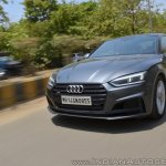 Audi S5 review front action shot tilt