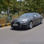 Audi S5 review front three quarters tracking shot