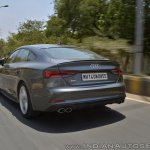 Audi S5 review rear action shot