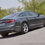 Audi S5 review rear angle view tilt