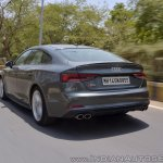 Audi S5 review rear motion shot