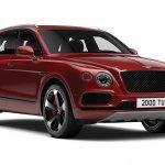 Bentley Bentayga V8 front three quarters