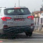 G4 SsangYong Rexton (Mahindra Rexton) rear three quarters spy shot