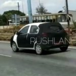 Hyundai AH2 (new Hyundai Santro) spy shot rear