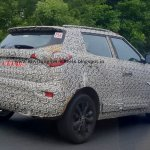 Mahindra S201 Ssangyong Tivoli based Ford EcoSport competitor test mule rear
