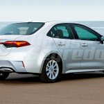 Next-gen Toyota Corolla sedan rear three quarters rendering
