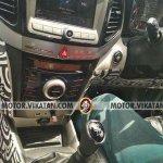 Production Mahindra S201 interior centre console spy shot