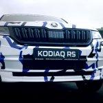 Skoda Kodiaq RS (Skoda Kodiaq vRS) front fascia teaser