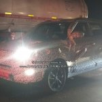 SsangYong Tivoli based Mahindra S201 spy shot front three quarters night
