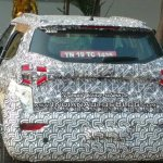 SsangYong Tivoli based Mahindra S201 spy shot rear