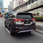 Toyota Rush rear three quarters motion shot